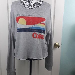 "Coca-Cola Cropped Sweatshirt ""Catch the Wave"""